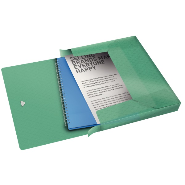 Esselte ColourIce Jumbo 40mm zöld gumis mappa - 2