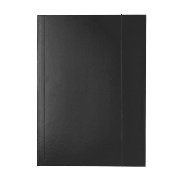 Esselte Economy A4 fekete gumis karton mappa - 1