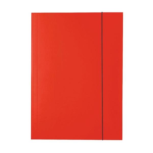 Esselte Economy A4 piros gumis karton mappa - 1