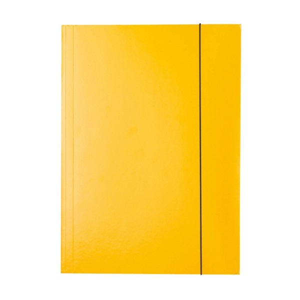 Esselte Economy A4 sárga gumis karton mappa - 1
