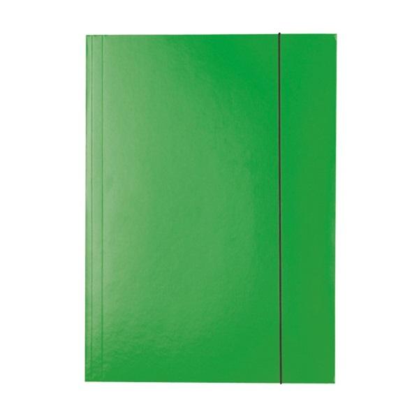 Esselte Economy A4 zöld gumis karton mappa - 1