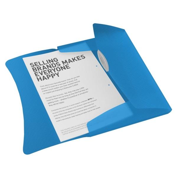 Esselte Vivida A4 műanyag kék gumis mappa - 2