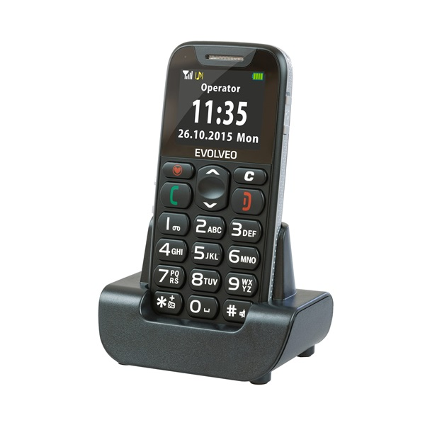 Evolveo Easyphone EP-500 1,8 fekete mobiltelefon - 2