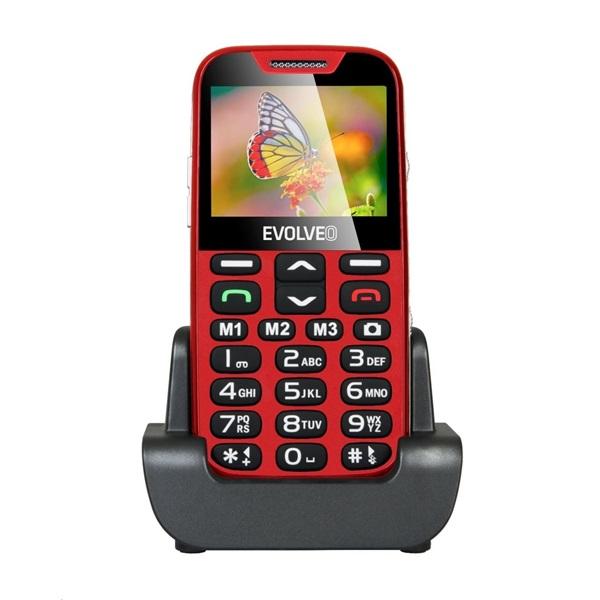 Evolveo Easyphone EP-500 1,8 piros mobiltelefon - 1