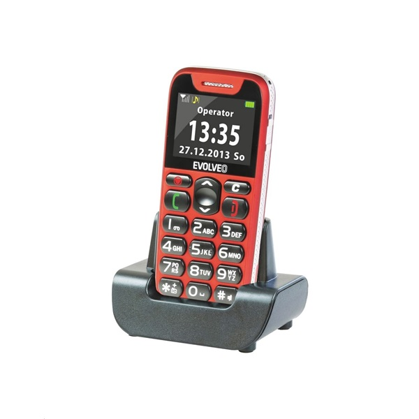 Evolveo Easyphone EP-500 1,8 piros mobiltelefon - 2