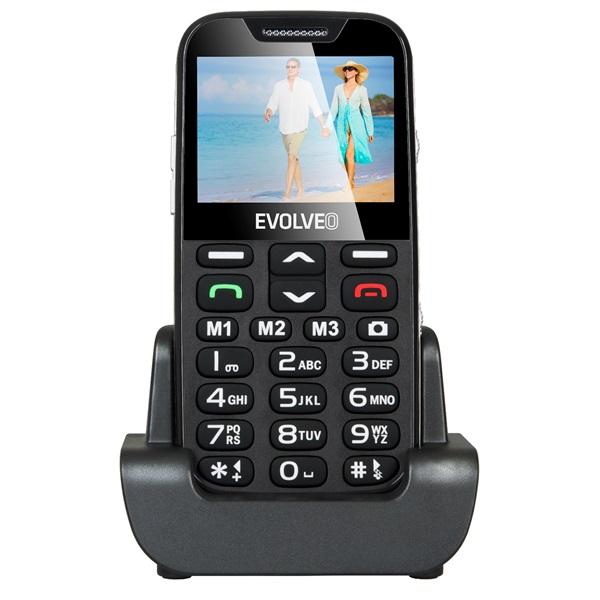 Evolveo Easyphone XD EP-600 2,3 fekete mobiltelefon - 1