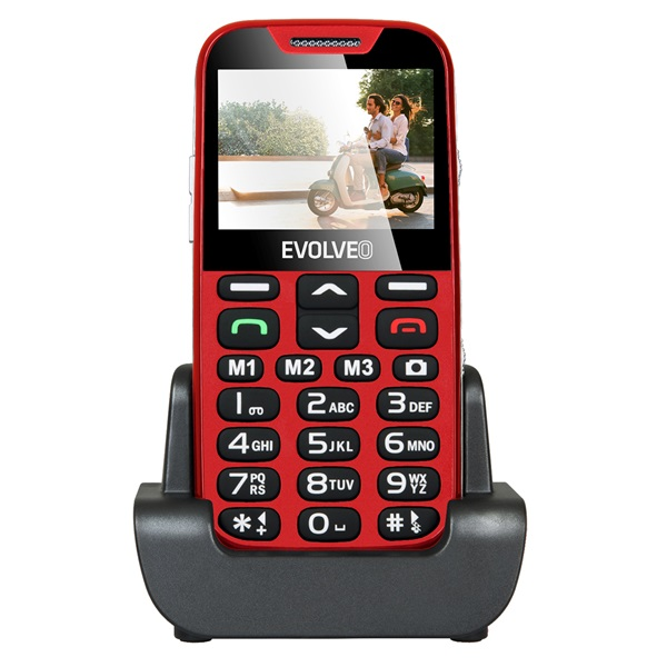 Evolveo Easyphone XD EP-600 2,3 piros mobiltelefon - 1