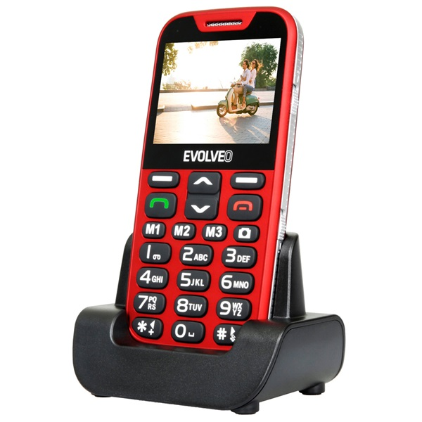 Evolveo Easyphone XD EP-600 2,3 piros mobiltelefon - 3