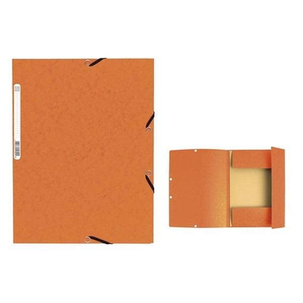 Exacompta A4 karton narancssárga gumis mappa - 1