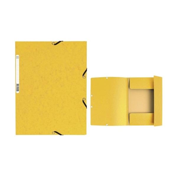Exacompta A4 karton sárga gumis mappa - 1