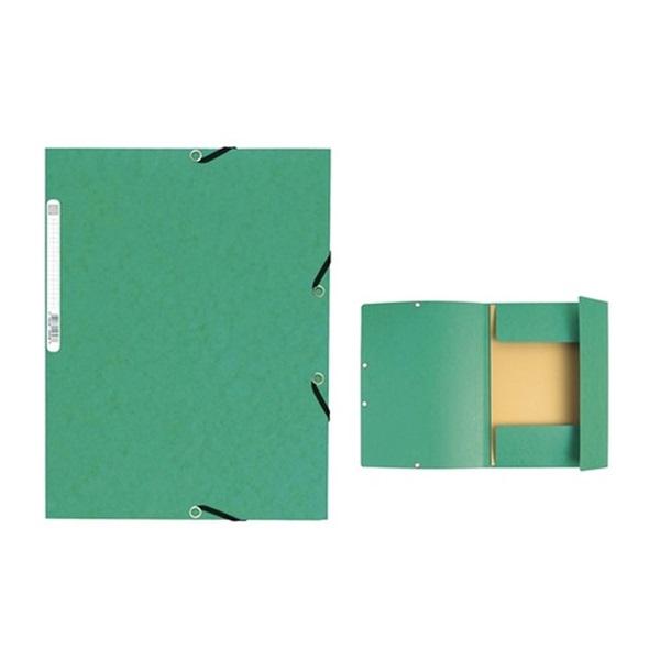 Exacompta A4 karton zöld gumis mappa - 1