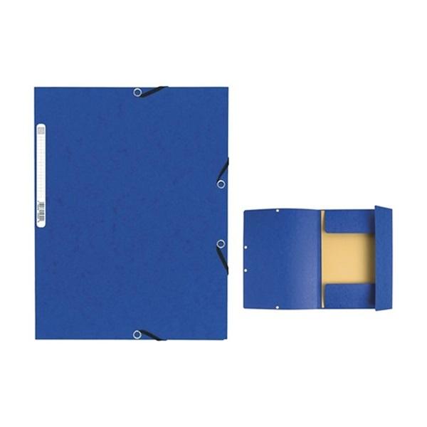 Exacompta A4 kék gumis karton mappa - 1