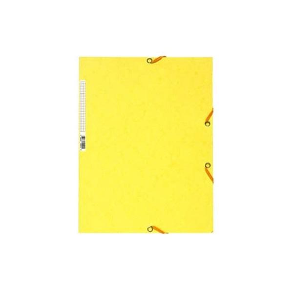 Exacompta A4 prespán citromsárga gumis mappa - 1