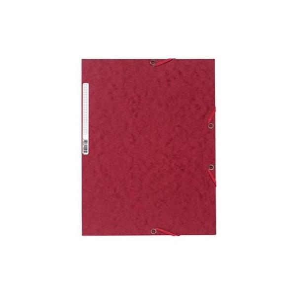 Exacompta A4 prespán cseresznyepiros gumis mappa - 1