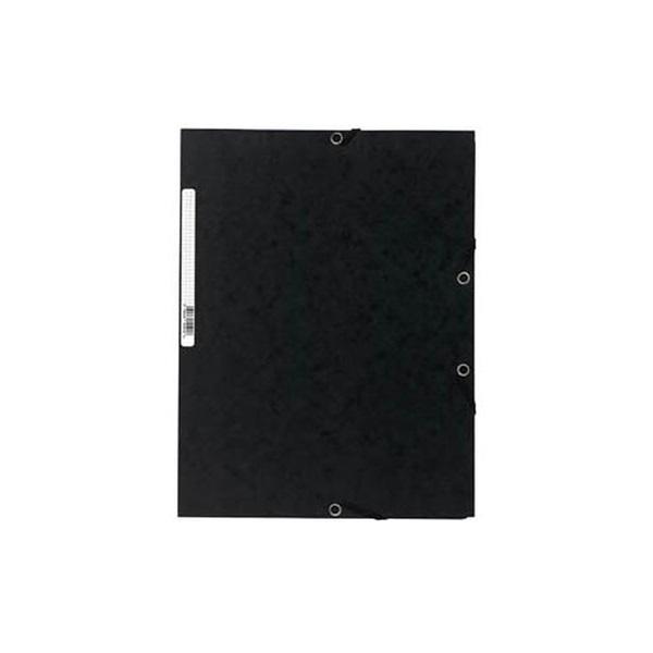 Exacompta A4 prespán fekete gumis mappa - 1