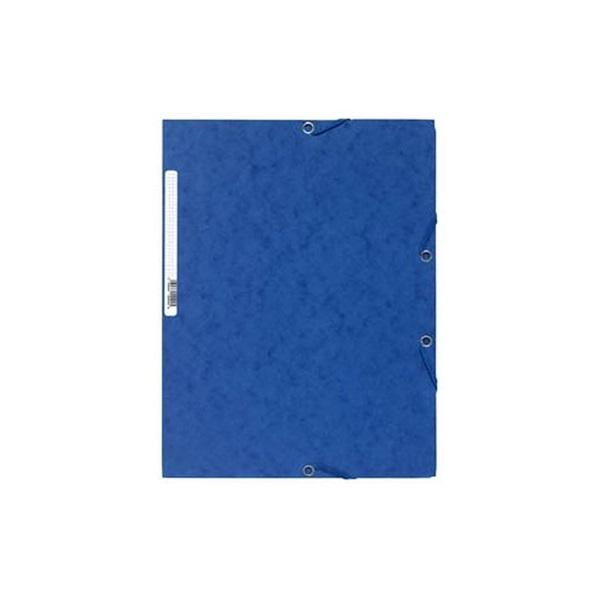Exacompta A4 prespán kék gumis mappa - 1