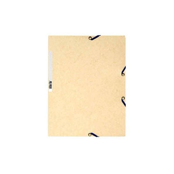 Exacompta A4 prespán krémszínű gumis mappa - 1