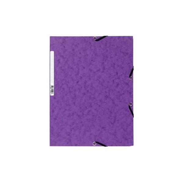 Exacompta A4 prespán lila gumis mappa - 1