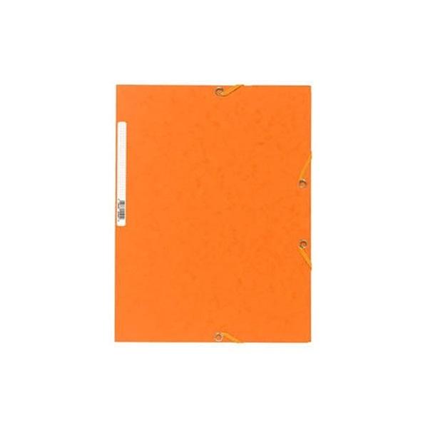 Exacompta A4 prespán narancssárga gumis mappa - 1