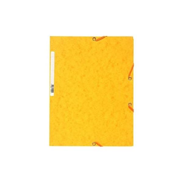 Exacompta A4 sárga prespán gumis mappa - 1