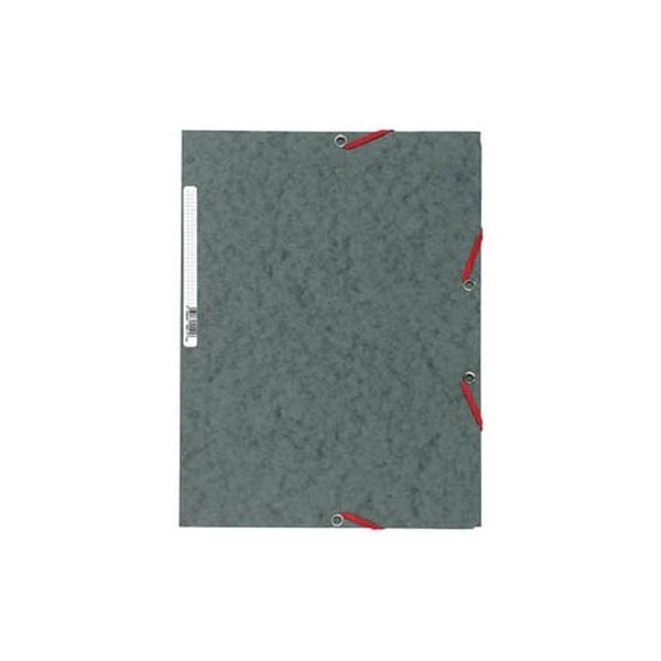 Exacompta A4 szürke prespán gumis mappa - 1