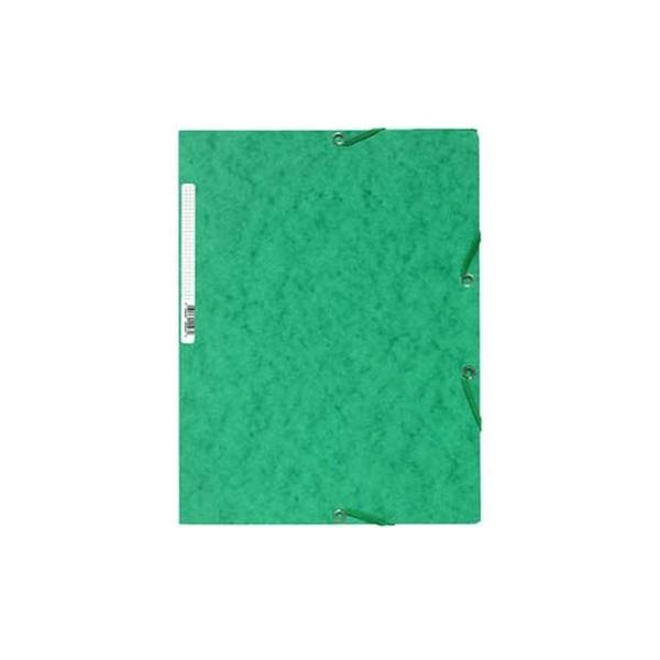 Exacompta A4 zöld prespán gumis mappa - 1