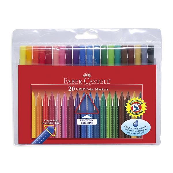 Faber-Castell Grip 155320 20db-os vegyes színű filctoll készlet - 1