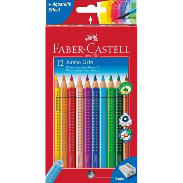 Faber-Castell Grip 2001 Jumbo 12db-os színes ceruza + hegyező - 1