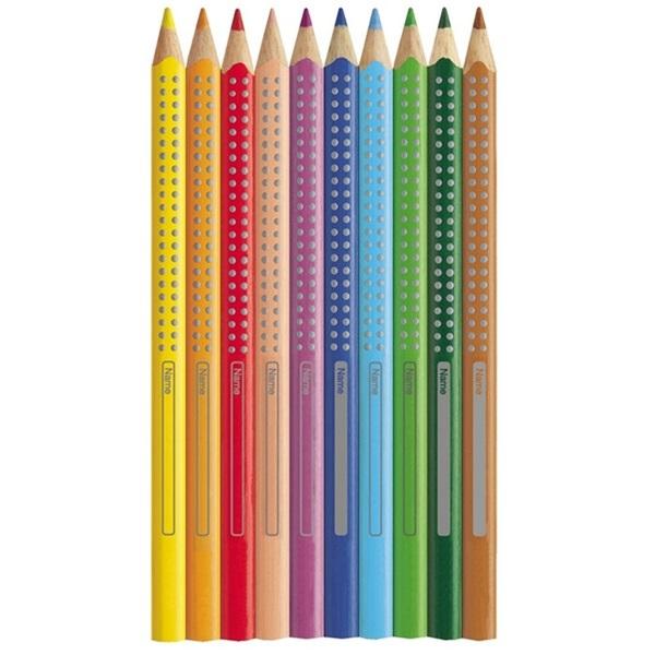 Faber-Castell Grip 2001 Jumbo 12db-os színes ceruza + hegyező - 2
