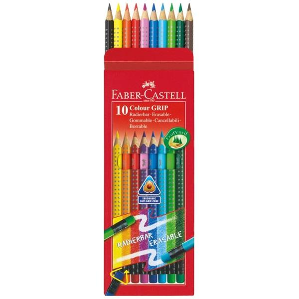 Faber-Castell Grip 2001 színes radíros 10db-os vegyes színű színes ceruza - 1