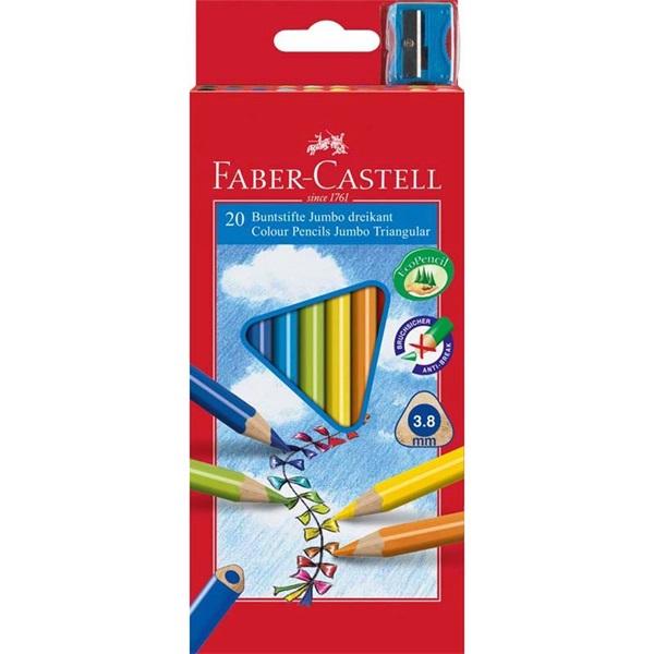 Faber-Castell Grip Junior háromszög alakú 20db-os vegyes színű színes ceruza - 1
