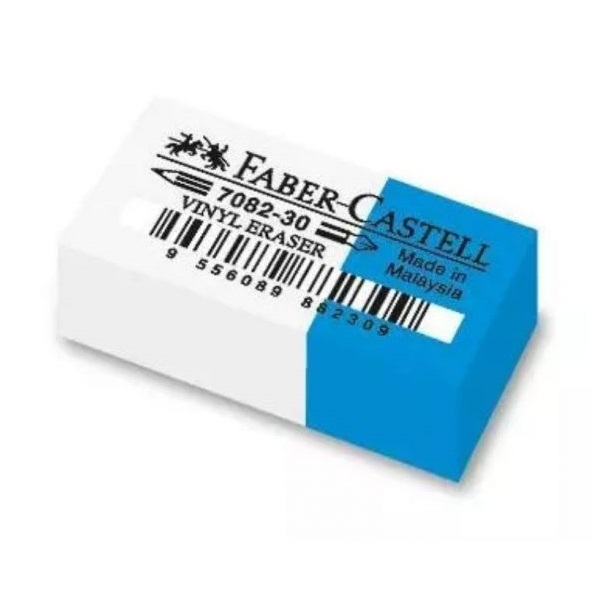 Faber-Castell vinyl papírvédős fehér-kék radír - 3