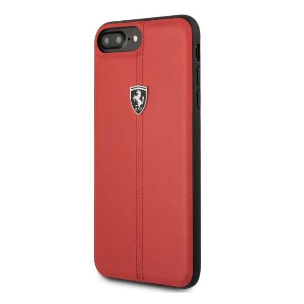 Ferrari Heritage iPhone 8 Plus kemény csíkos piros tok - 1