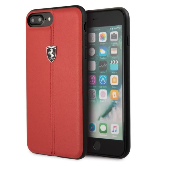 Ferrari Heritage iPhone 8 Plus kemény csíkos piros tok - 2