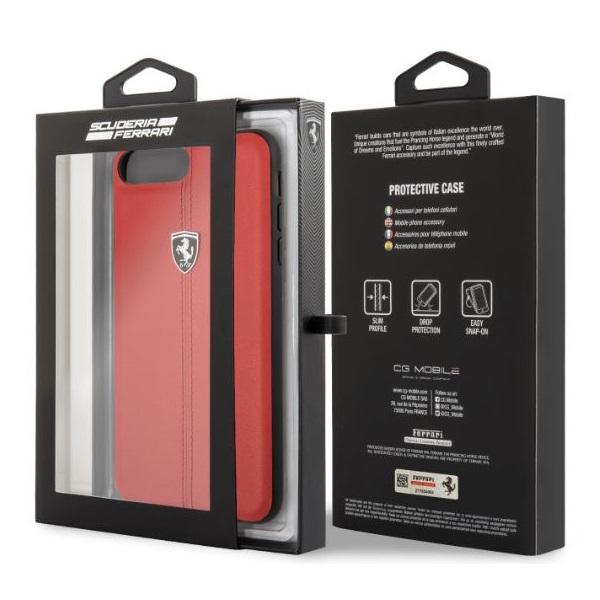 Ferrari Heritage iPhone 8 Plus kemény csíkos piros tok - 3