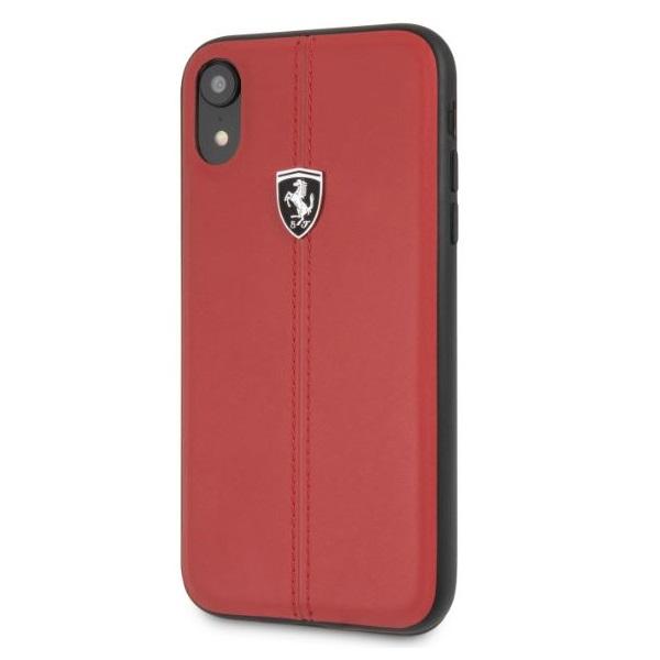 Ferrari Heritage iPhone XR kemény csikos piros tok - 1