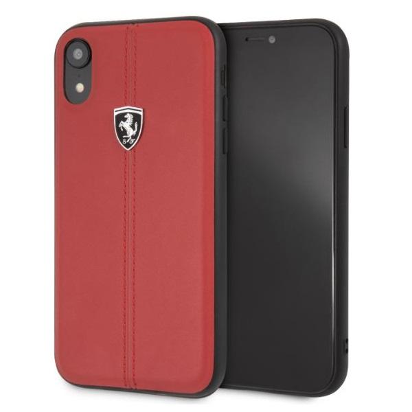 Ferrari Heritage iPhone XR kemény csikos piros tok - 2