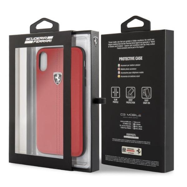 Ferrari Heritage iPhone XR kemény csikos piros tok - 3