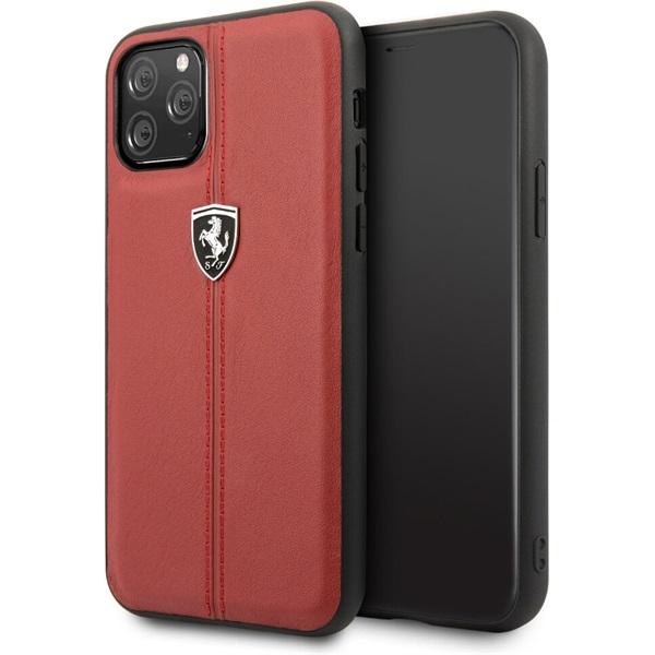 FERRARI iPhone 11 Pro függőlegesen csíkozott piros keménytok - 1