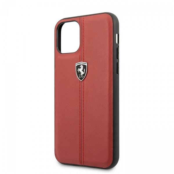 FERRARI iPhone 11 Pro függőlegesen csíkozott piros keménytok - 2