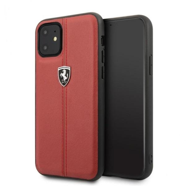 FERRARI iPhone 11 Pro Max függőlegesen csíkozott piros keménytok - 1
