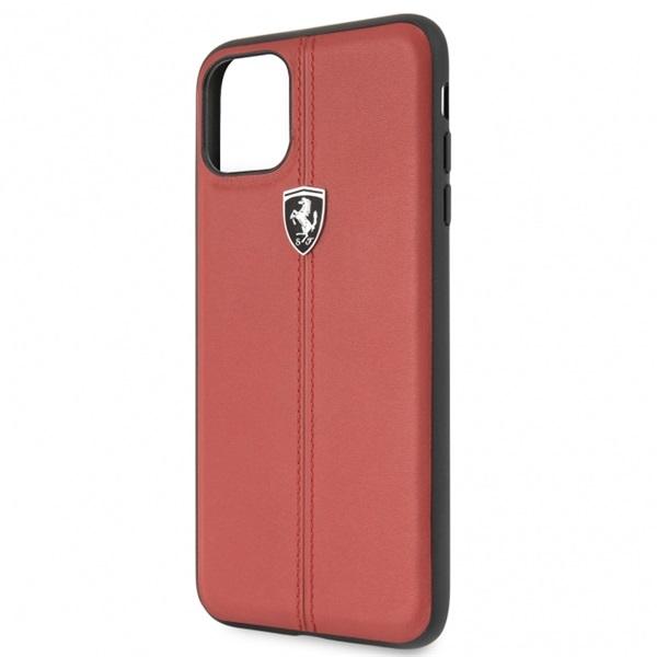 FERRARI iPhone 11 Pro Max függőlegesen csíkozott piros keménytok - 2