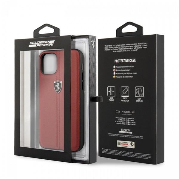 FERRARI iPhone 11 Pro Max függőlegesen csíkozott piros keménytok - 4