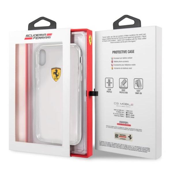 Ferrari iPhone XR kemény átlátszó tok - 3