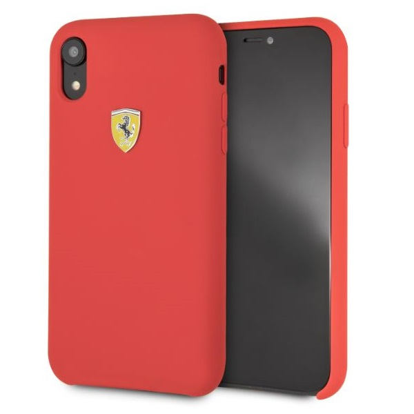 Ferrari iPhone XR SF szilikon piros tok - 5