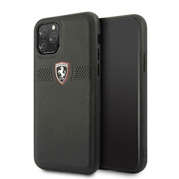 FERRARI Off Track iPhone 11 Pro fekete szemcsés bőrtok - 1