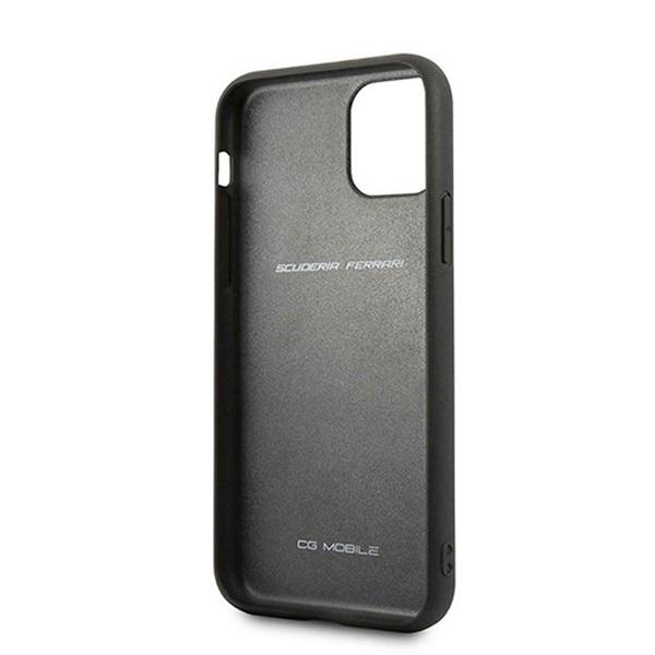 FERRARI Off Track iPhone 11 Pro fekete szemcsés bőrtok - 3