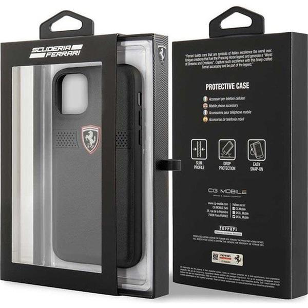 FERRARI Off Track iPhone 11 Pro fekete szemcsés bőrtok - 4