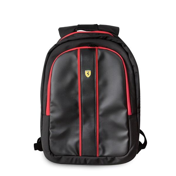 Ferrari On-Track 15 USB csatlakozós fekete notebook hátizsák - 1