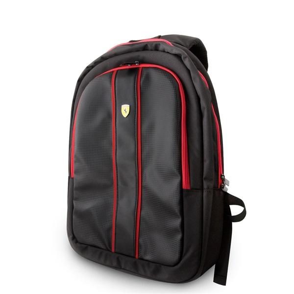 Ferrari On-Track 15 USB csatlakozós fekete notebook hátizsák - 2